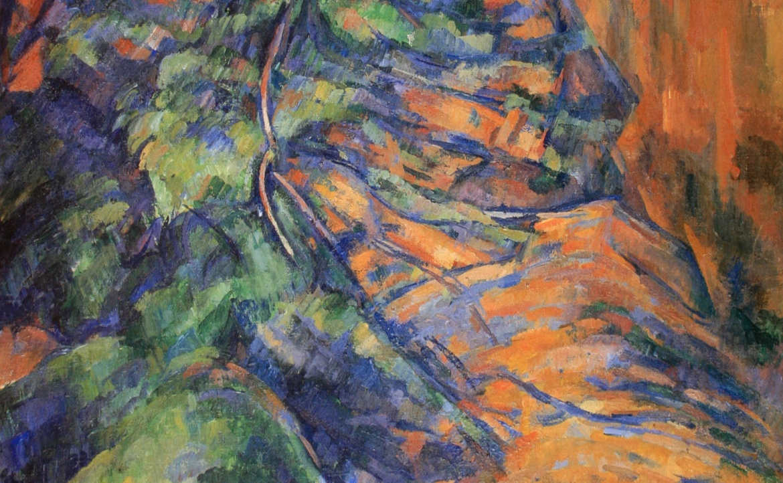Cézanne, Paul: Felsen und Äste bei Bibémus , 1900/1904