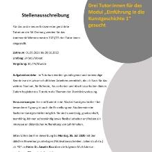 Plakat zur Stellenauschreibung