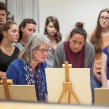 Dieses Bild zeigt Studierende des Instituts für Kunstgeschichte.