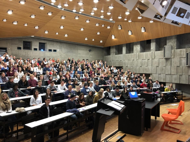 Studierende der Geisteswissenschaften beim Vorkurs des GWP im Oktober 2018