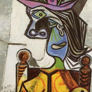 Pablo Picasso_Femme au chapeau fleuri. (1939-1940)