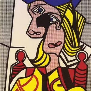 Roy Lichtenstein_Woman with Flowered Hat (1963)